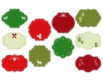 Marcos adornados de la Navidad Foto de archivo libre de regalías