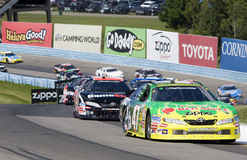 Marcos Ambrose leads the cars through the Esses Royalty Free Stock Image