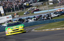 Marcos Ambrose on track Royalty Free Stock Photos