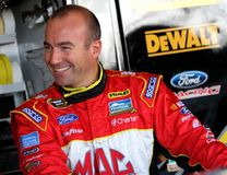 Marcos Ambrose at track Stock Image