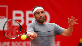 MARCOS BAGHDATIS. Cypriot tennis player Marcos Baghdatis pictured at BRD Nastase Tiriac Trophy, in Bucharest, Romania, Tuesday, April 19, 2016 Stock Image