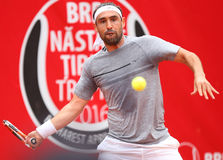 MARCOS BAGHDATIS. Cypriot tennis player Marcos Baghdatis pictured at BRD Nastase Tiriac Trophy, in Bucharest, Romania, Tuesday, April 19, 2016 Stock Photo