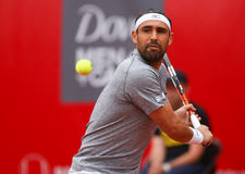 MARCOS BAGHDATIS. Cypriot tennis player Marcos Baghdatis pictured at BRD Nastase Tiriac Trophy, in Bucharest, Romania, Tuesday, April 19, 2016 Stock Images