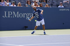Marcos Baghdatis. Professional Cypriot tennis player Marcos Baghdatis during his practice session at the 2013 US open tennis tournament Royalty Free Stock Photos