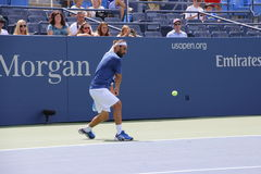 Marcos Baghdatis. Professional Cypriot tennis player Marcos Baghdatis during his practice session at the 2013 US open tennis tournament Royalty Free Stock Images