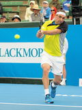 Marcos Bahdatis backhand follow through Stock Images