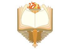 Marcos barrocos y elementos decorativos - bandera del libro del vintage con la cinta stock de ilustración