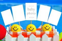 Marcos blancos de la foto del bebé Imagenes de archivo