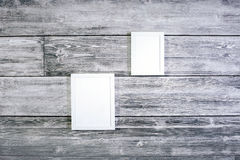 Marcos blancos en blanco Imagen de archivo