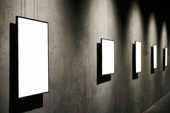 Marcos blancos vacíos Fotos de archivo