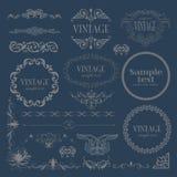 Marcos caligráficos de la decoración fijados libre illustration