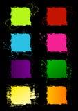 Marcos cuadrados de Grunge Imágenes de archivo libres de regalías