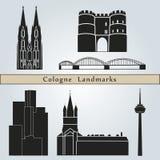 Marcos da água de Colônia ilustração royalty free