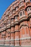 Marcos da Índia - Hawa Mahal - o palácio do vento fotos de stock