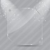 Marcos de cristal realistas. Ilustración del vector ilustración del vector