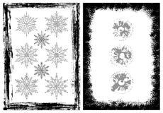 Marcos de Grunge y elementos del diseño Imagen de archivo