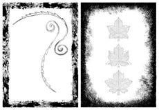 Marcos de Grunge y elementos del diseño Imagen de archivo libre de regalías