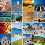 Marcos de Istria e colagem cênico Foto de Stock