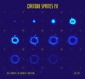 Marcos de la animación o sprites de la explosión de la energía Fotografía de archivo libre de regalías
