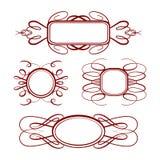 Marcos de la caligrafía del vector fijados Imagen de archivo libre de regalías
