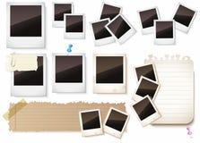 Marcos de la foto aislados sobre blanco Foto de archivo libre de regalías