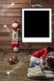 Marcos de la foto de la Navidad Fotos de archivo libres de regalías