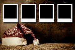 Marcos de la foto de la Navidad para cuatro fotos imagenes de archivo