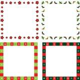 Marcos de la Navidad Imágenes de archivo libres de regalías