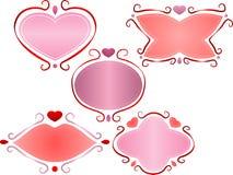 Marcos de la tarjeta del día de San Valentín Foto de archivo