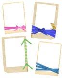 Marcos de la vendimia con las cintas Fotos de archivo