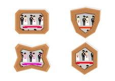 Marcos de los caracteres de la boda Imagenes de archivo