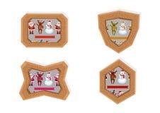 Marcos de los caracteres de la Navidad Foto de archivo libre de regalías