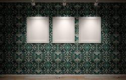 Marcos de los espacios en blanco en la pared Fotografía de archivo