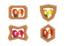 Marcos de los pares del amor Imagen de archivo libre de regalías