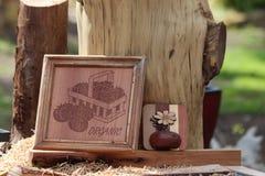 Marcos de madera Imagen de archivo libre de regalías