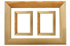 Marcos de madera aislados en el fondo blanco Imagen de archivo