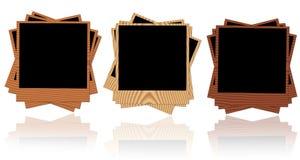 Marcos de madera de la foto Fotos de archivo libres de regalías