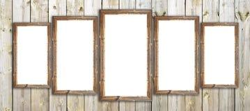 Marcos de madera del granero viejo en la pared de madera Fotos de archivo
