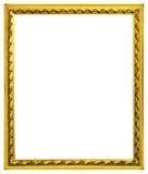 Marcos de madera dorados Imágenes de archivo libres de regalías