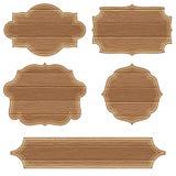 Marcos de madera retros Imagen de archivo libre de regalías