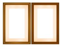 Marcos de madera, vector de los cdr Fotografía de archivo