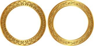Marcos de oro Foto de archivo
