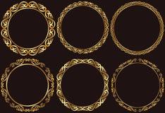 Marcos de oro Foto de archivo libre de regalías