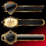 Marcos de oro decorativos de lujo Fotografía de archivo libre de regalías