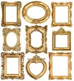 Marcos de oro objetos barrocos de la antigüedad del estilo Imagen de archivo libre de regalías