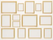 Marcos de oro vacíos de la foto Imagen de archivo