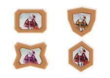 Marcos de Papá Noel Imagenes de archivo