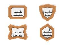 Marcos de París y de Dubai Fotografía de archivo