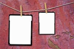 Marcos de película analogicos de hoja Fotos de archivo libres de regalías