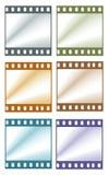 Marcos de película de color Stock de ilustración